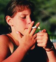 Teens Smoking Cigarettes